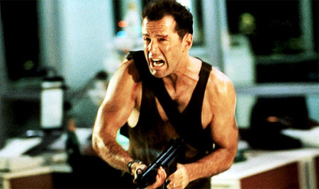 Bruce Willis în Die Hard. Foto: Virgin Media