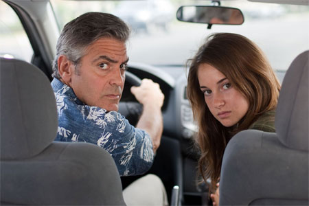 George Clooney și Shailene Woodley în The Descendants/Foto: Merie Wallace