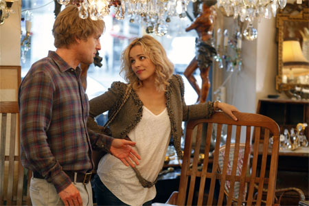 Owen Wilson și Rachel McAdams în Midnight in Paris